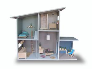 vanessa leran, maison de poupée en bois, maison de poupée design, côte guinguette